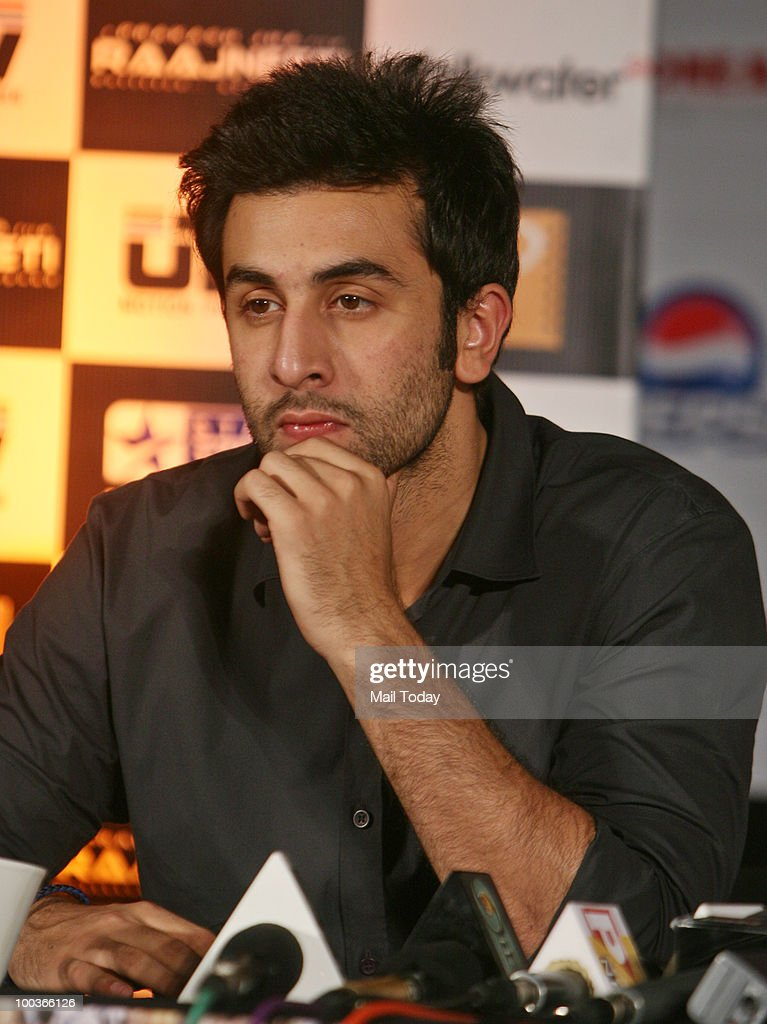 Ranbir Kapoor at a promotional evnt for the film Rajneeti in New Delhi on May 20, 2010.