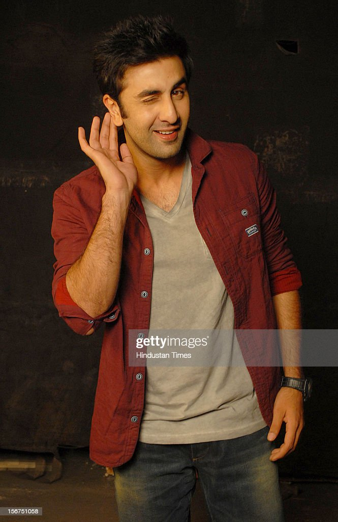 'MUMBAI, INDIA - SEPTEMBER 6: Ranbir Kapoor at filmalaya studio, Andheri (w) on September 6, 2012 in Mumbai, India. (Photo by Prodip Guha/Hindustan Times via Getty Images)'