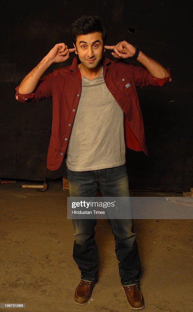 'MUMBAI, INDIA - SEPTEMBER 6: Ranbir Kapoor at filmalaya studio, Andheri (w) on September 6, 2012 in Mumbai, India. (Photo by Prodip Guha/Hindustan Times via Getty Images)'