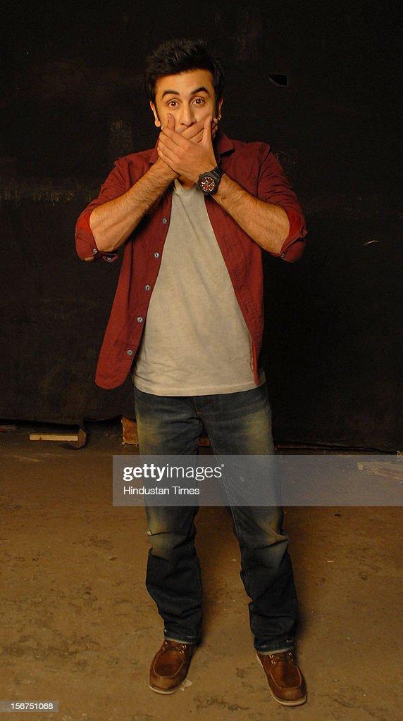 Ranbir Kapoor at filmalaya studio, Andheri (w) on September 6, 2012 in Mumbai, India. (Photo by Prodip Guha/Hindustan Times via Getty Images)'