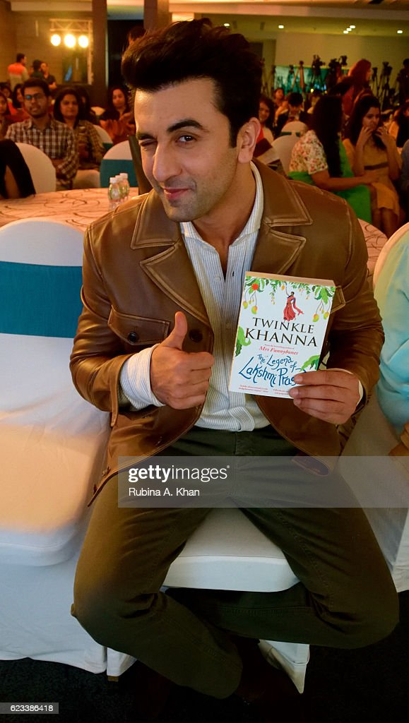 Ranbir Kapoor at the launch of Twinkle Khanna's second book, The Legend of Lakshmi Prasad, published by Juggernaut Books, where he read an excerpt from it at the JW Marriott on November 15, 2016 in Mumbai, India.