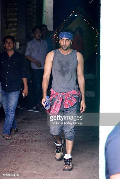 Ranbir Kapoor during the dance practice for upcoming film Jagga Jasoos at Ganesh Acharyas studio in Mumbai