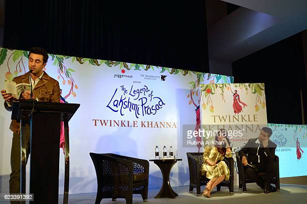 Ranbir Kapoor reading an excerpt from Twinkle Khanna's second book The Legend of Lakshmi Prasad published by Juggernaut Books as the author and Karan...