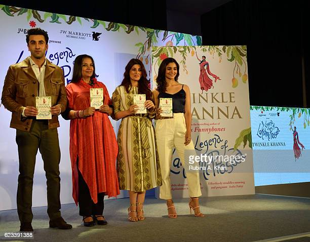 Ranbir Kapoor Shabana Azmi Twinkle Khanna and Alia Bhatt at the launch of Twinkle Khanna's second book The Legend of Lakshmi Prasad published by...