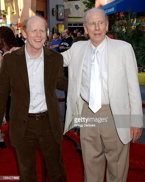 Rance Howard and Ron Howard during 'Cinderella Man' Los Angeles Premiere Arrivals at The Gibson Amphitheatre in Universal City California United...