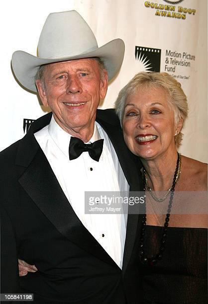 Rance Howard and wife Judy during The Motion Picture and Television Fund's 24th Golden Boot Awards Arrivals at The Beverly Hilton Hotel in Beverly...