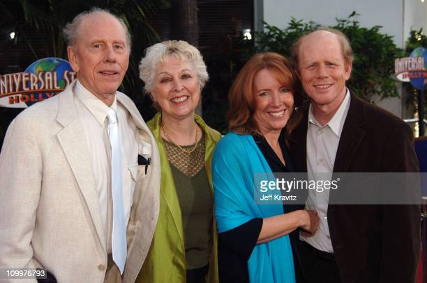 Rance Howard Judy Howard Cheryl Howard and Ron Howard