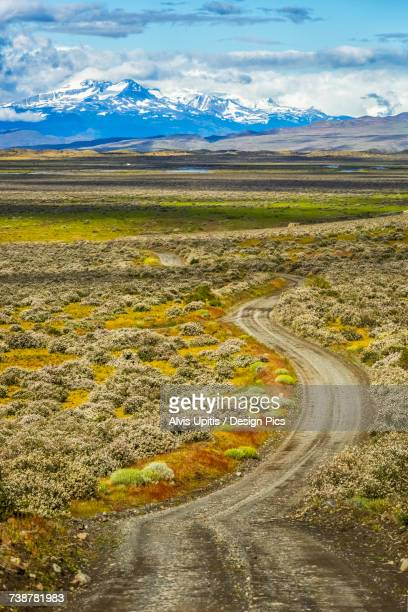 Ranch road in Torre del Paine National Park in Chilean Patagonia