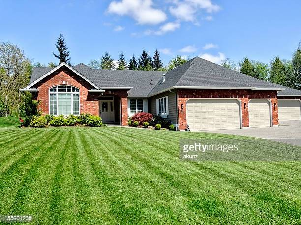 Ranch Style home with a perfect lawn
