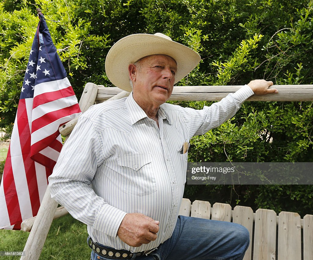 Rancher Cliven Bundy poses for a photo outside his ranch house on April 11, 2014 west of Mesquite, Nevada. Bureau of Land Management officials are rounding up Cliven Bundy's cattle, he has been locked in a dispute with the BLM for a couple of decades over grazing rights. (Photo by George Frey/Getty Images
