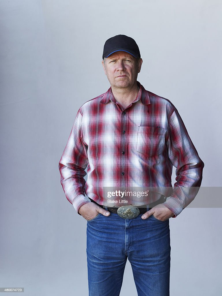 Rancher Farmer in baseball cap : Stock Photo
