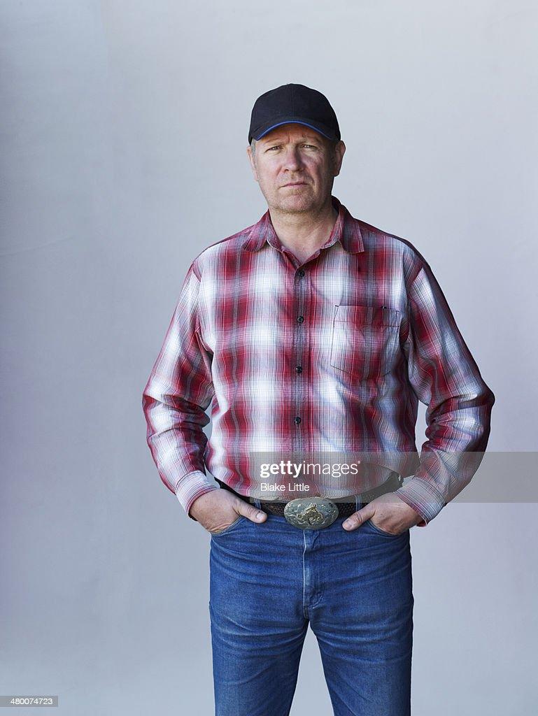 Rancher Farmer in baseball cap