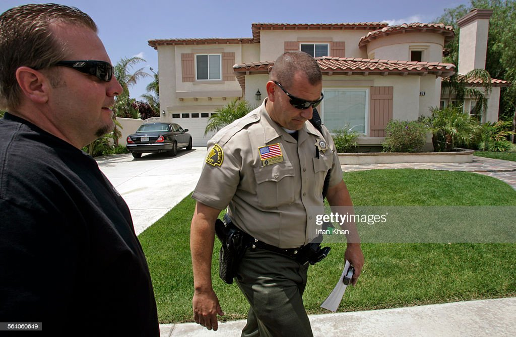 What happens when the sheriff arrives with an eviction notice?