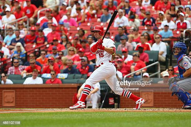 Randal Grichuk of the St Louis Cardinals bats against the New York Mets at Busch Stadium on July 19 2015 in St Louis Missouri