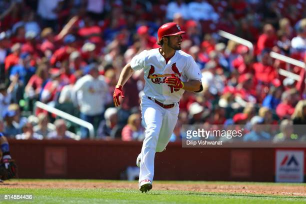 Randal Grichuk of the St Louis Cardinals bats against the Toronto Blue Jays at Busch Stadium on April 27 2017 in St Louis Missouri