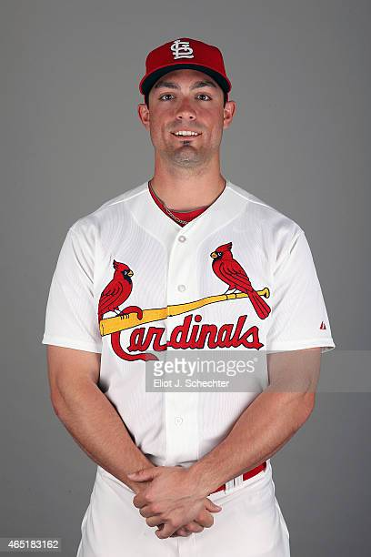 Randal Grichuk of the St Louis Cardinals poses during Photo Day on Monday March 2 2015 at Roger Dean Stadium in Jupiter Florida