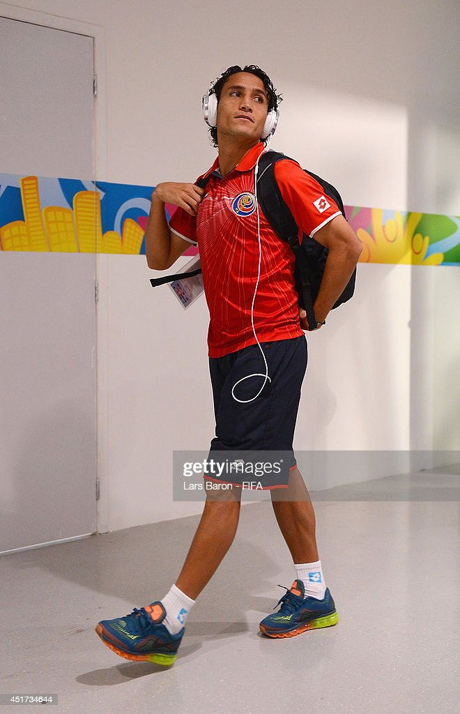<a gi-track='captionPersonalityLinkClicked' href=/galleries/search?phrase=Randall+Brenes&family=editorial&specificpeople=2275484 ng-click='$event.stopPropagation()'>Randall Brenes</a> of Costa Rica arrives at the stadium prior to the 2014 FIFA World Cup Brazil Quarter Final match between Netherlands and Costa Rica at Arena Fonte Nova on July 5, 2014 in Salvador, Brazil.