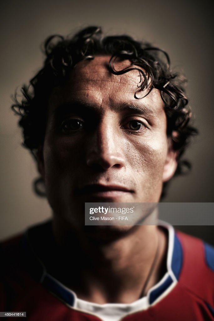 <a gi-track='captionPersonalityLinkClicked' href=/galleries/search?phrase=Randall+Brenes&family=editorial&specificpeople=2275484 ng-click='$event.stopPropagation()'>Randall Brenes</a> of Costa Rica poses during the official FIFA World Cup 2014 portrait session on June 10, 2014 in Sao Paulo, Brazil.