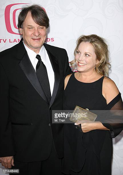 Randall Carver and guest during 5th Annual TV Land Awards Arrivals at Barker Hangar in Santa Monica California United States