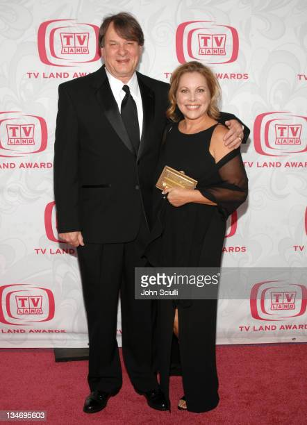 Randall Carver and guest during 5th Annual TV Land Awards Arrivals at Barker Hanger in Santa Monica CA United States