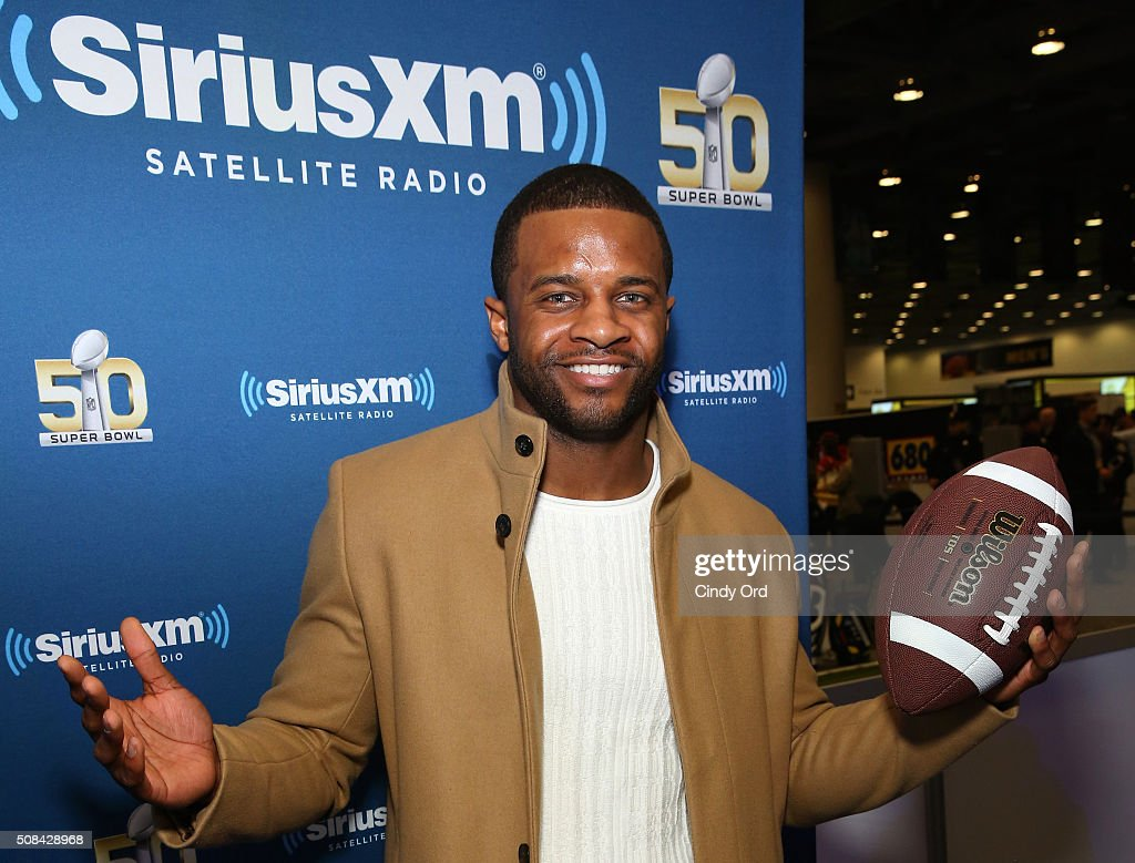 Randall Cobb of the Green Bay Packers attends SiriusXM at Super Bowl 50 Radio Row at the Moscone Center on February 4 2016 in San Francisco California