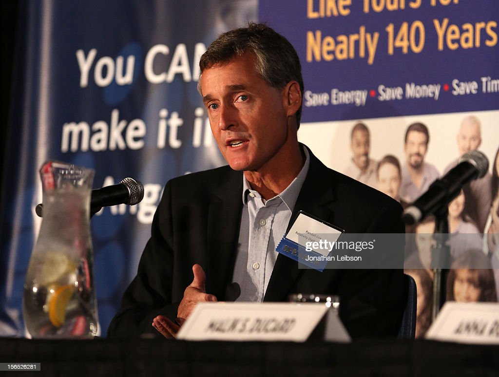Randall Cox, President, RogueLife, Relativity Media speaks onstage during the Is Silicon Beach Real for the Entertainment Industry? Panel at Variety's Hollywood Chamber Entertainment Conference 2012 at Loews Hollywood Hotel on November 16, 2012 in Hollywood, California.