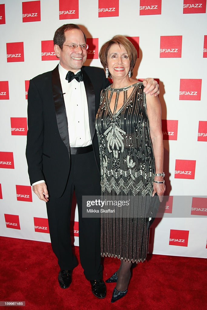Randall Kline and <a gi-track='captionPersonalityLinkClicked' href=/galleries/search?phrase=Nancy+Pelosi&family=editorial&specificpeople=169883 ng-click='$event.stopPropagation()'>Nancy Pelosi</a> at SFJAZZ Center on January 23, 2013 in San Francisco, California.