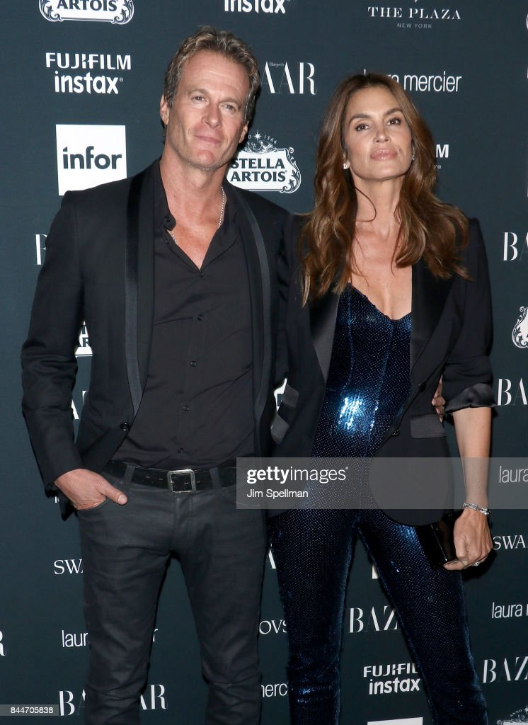 Rande Gerber (L) and Cindy Crawford attend the 2017 Harper's Bazaar Icons at The Plaza Hotel on September 8, 2017 in New York City.
