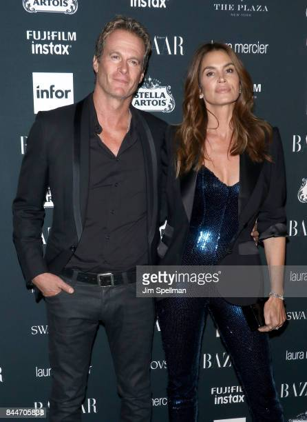 Rande Gerber and Cindy Crawford attend the 2017 Harper's Bazaar Icons at The Plaza Hotel on September 8 2017 in New York City