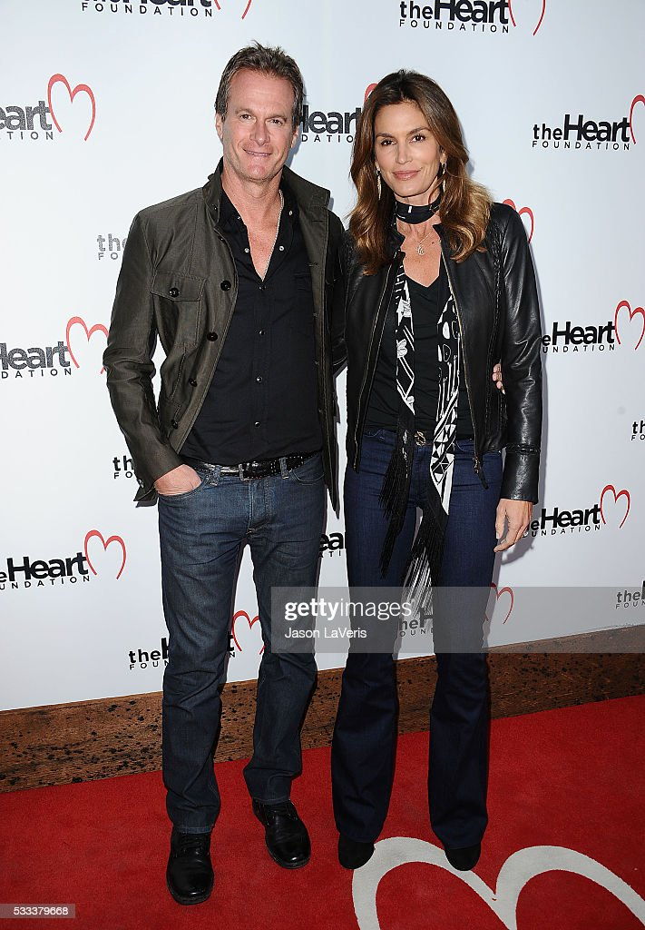 Rande Gerber and Cindy Crawford attend The Heart Foundation event at Ron Burkle's Green Acres Estate on May 21, 2016 in Beverly Hills, California.