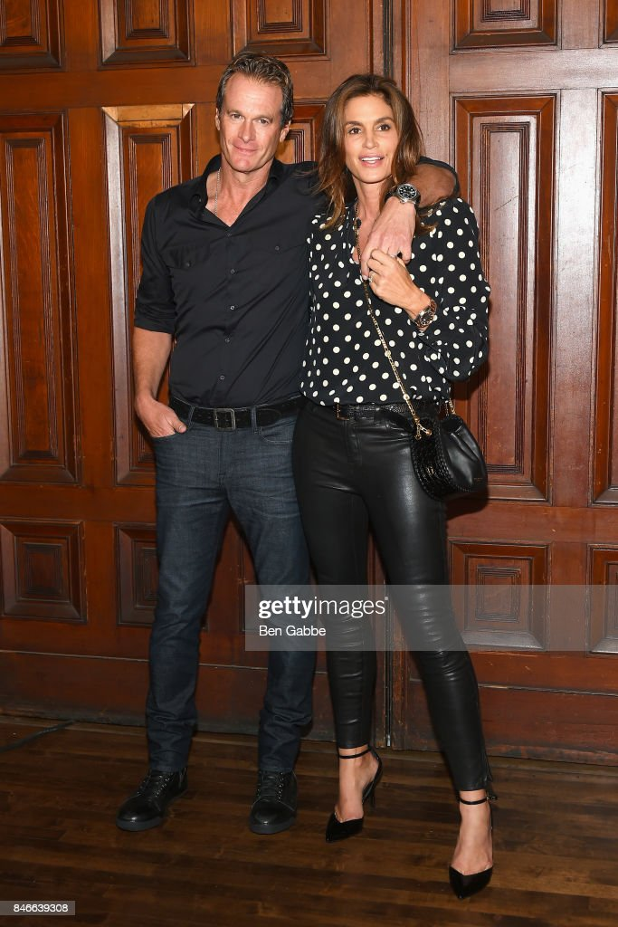 Rande Gerber (L) and Cindy Crawford attend the Marc Jacobs Fashion Show during New York Fashion Week at Park Avenue Armory on September 13, 2017 in New York City.