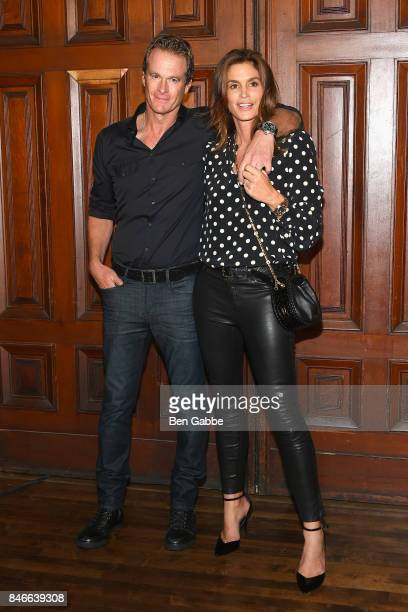 Rande Gerber and Cindy Crawford attend the Marc Jacobs Fashion Show during New York Fashion Week at Park Avenue Armory on September 13 2017 in New...