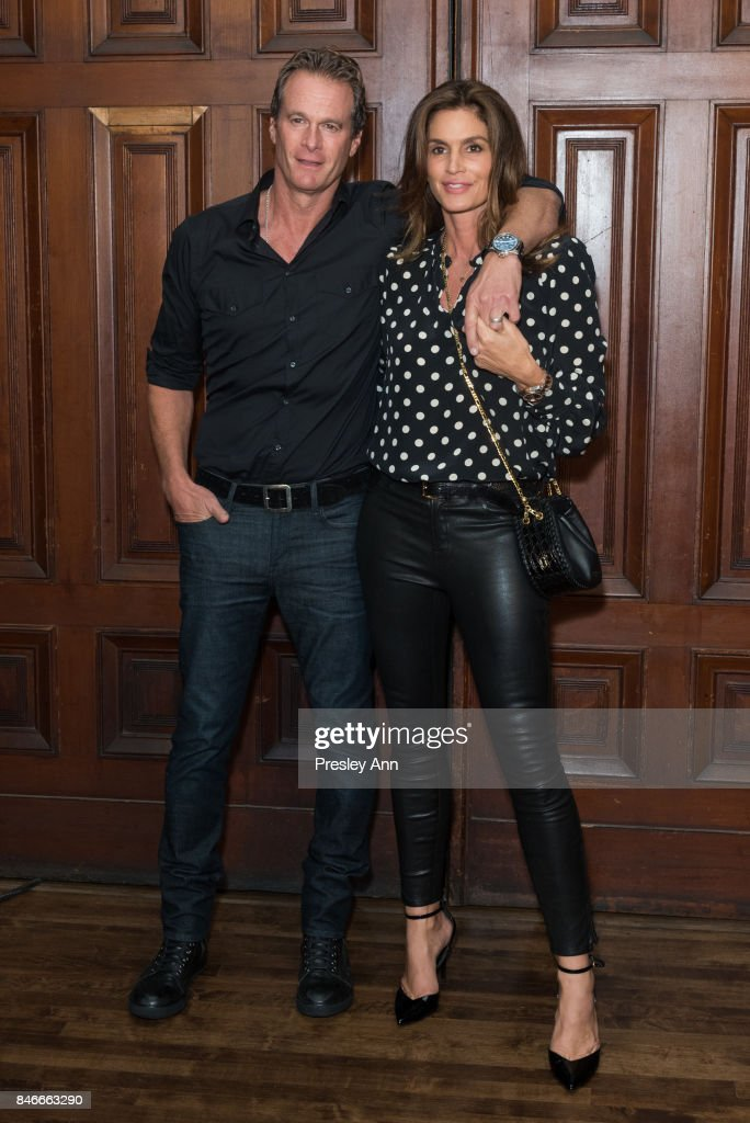 Rande Gerber and Cindy Crawford attends Marc Jacobs Spring 2018 show red carpet at Park Avenue Armory on September 13, 2017 in New York City.