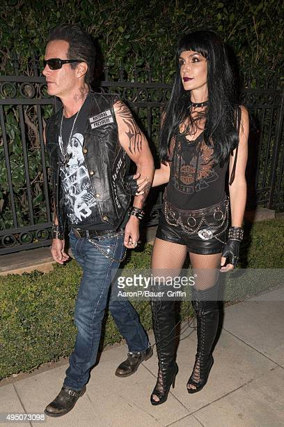 Rande Gerber and his wife Cindy Crawford are seen celebrating Halloween in Beverly Hills on October 30 2015 in Los Angeles California