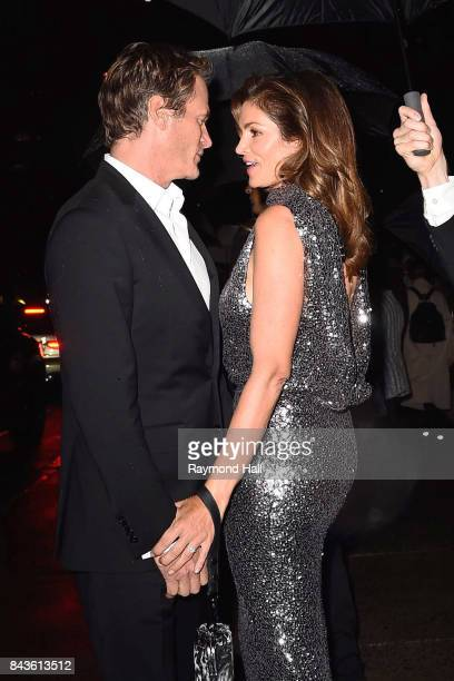 Rande Gerber and model Cindy Crawford arrive to the Tom Ford Spring/Summer 2018 Runway Show at Park Avenue Armory on September 6 2017 in New York City