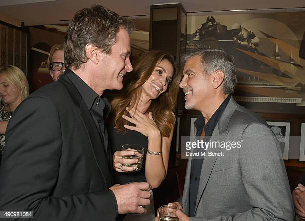 Rande Gerber Cindy Crawford and George Clooney attend the London launch of Casamigos Tequila and Cindy Crawford's book 'Becoming' hosted by Rande...