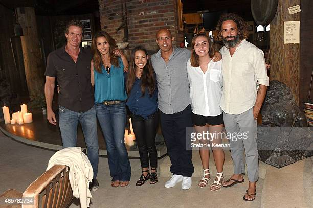 Rande Gerber Cindy Crawford Kalani Miller Kelly Slater Taylor Slater and John Moore attend Kelly Slater John Moore and Friends Celebrate the Launch...
