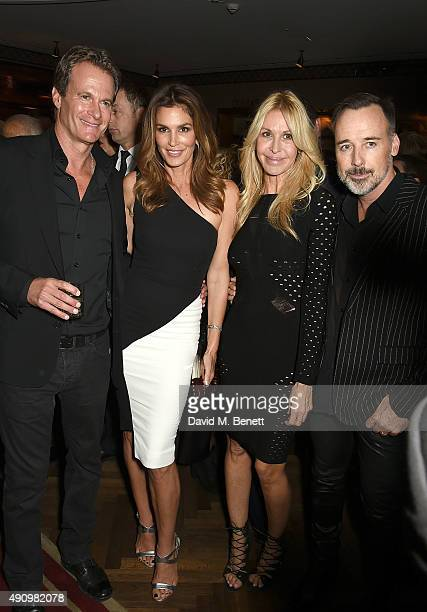 Rande Gerber Cindy Crawford Melissa Odabash and David Furnish attend the London launch of Casamigos Tequila and Cindy Crawford's book 'Becoming'...