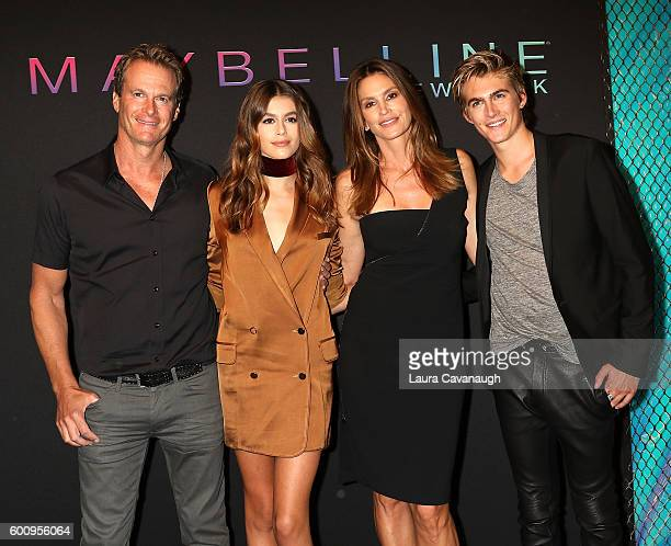 Rande Gerber Kaia Gerber Cindy Crawford and Presley Gerber attend Maybelline New York Celebrates NYFW on September 8 2016 in New York City