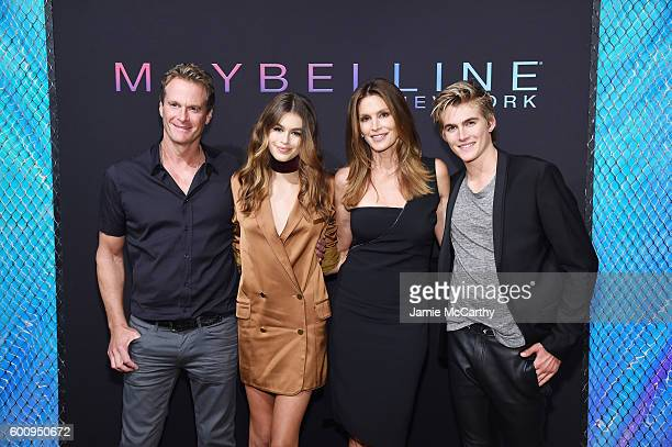 Rande Gerber Kaia Jordan Gerber Cindy Crawford and Presley Walker Gerber attend the Maybelline New York NYFW KickOff Party on September 8 2016 in New...