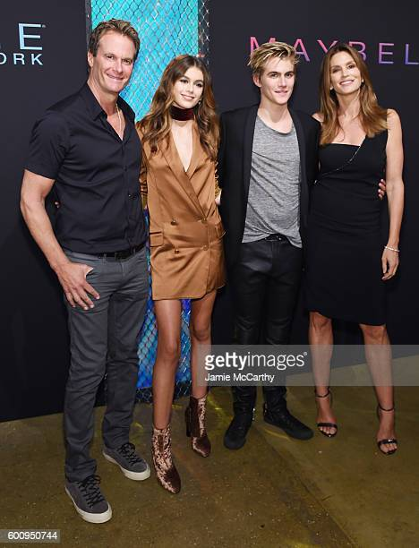 Rande Gerber Kaia Jordan Gerber Presley Walker Gerber and Cindy Crawford attend the Maybelline New York NYFW KickOff Party on September 8 2016 in New...