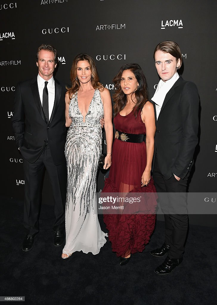 Rande Gerber model Cindy Crawford CoOwner of Chrome Hearts Laurie Lynn Stark and Gareth Pugh attend the 2014 LACMA Art Film Gala honoring Barbara...