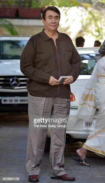 Randhir Kapoor at Christmas brunch by Shashi Kapoor in Mumbai