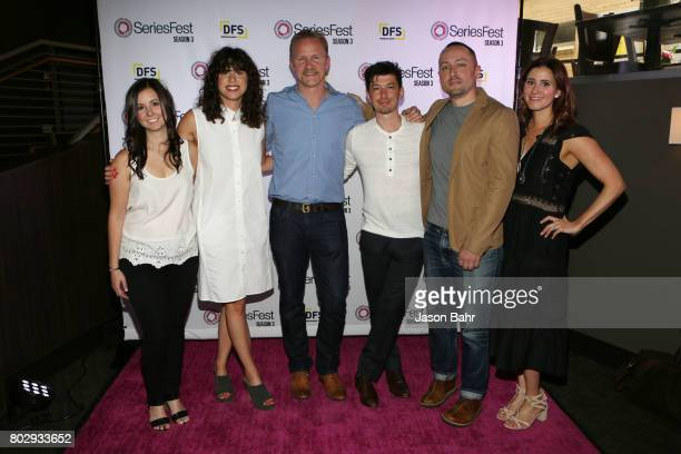 Randi Kleiner Rachel Traub Morgan Spurlock Jeremy Chilnick Eric Enright and Kaily Smith Westbrook attend the Warrior Poets Panel Discussion during...