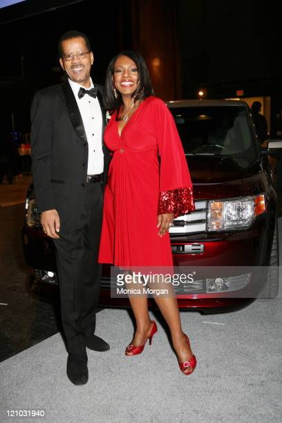 Randi Payotn and Sheryl Lee Ralph pose by Ford Flex during the 13th annual Urban Wheel Awards at the Detroit Opera House on January 13 2009 in...