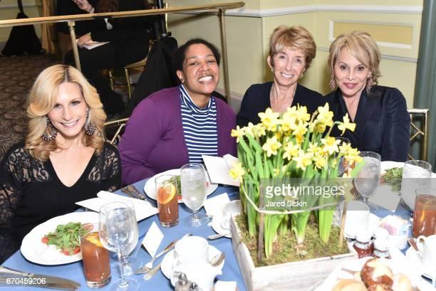 Randi Schatz Aja Davis Bjork Edith and Wendy Neuss attend New York Society for the Prevention of Cruelty to Children 2017 Spring Luncheon at The...