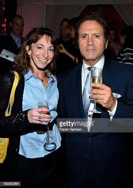 Randi Siegel and actor Frank Stallone attend the after party for the Lionsgate Films' 'The Expendables 2' premiere on August 15 2012 in Hollywood...