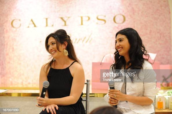 Randi Zuckerberg and Christine Martinez speak at 'A Balanced Life' discussion panel event at Calypso St Barth at Stanford Shopping Center on April 18...