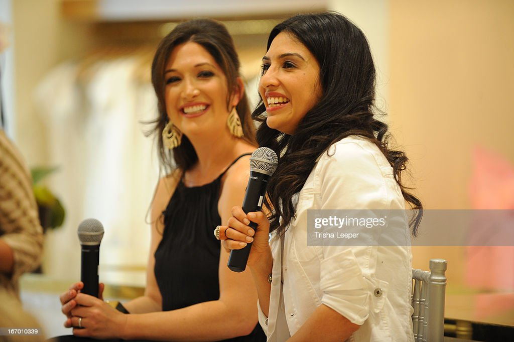 Randi Zuckerberg and Christine Martinez speak at 'A Balanced Life' discussion panel event at Calypso St. Barth at Stanford Shopping Center on April 18, 2013 in Palo Alto, California.