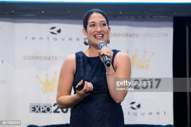 Randi Zuckerberg speaks at the 2017 Event Planner Expo at Metropolitan Pavilion on October 4 2017 in New York City